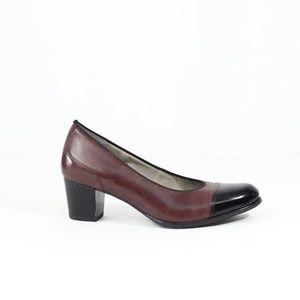 Ara Cap Toe Pumps Women Leather Heels New McKinley